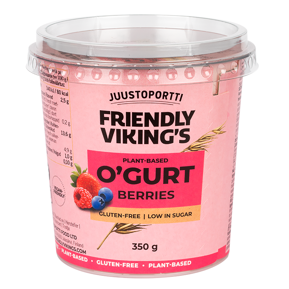Juustoportti Friendly Viking's O'gurt Berries 350 g
